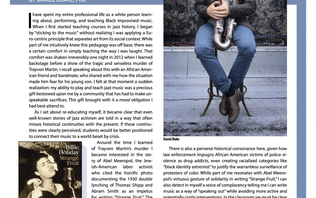 New Article In Jazz Ed Magazine!